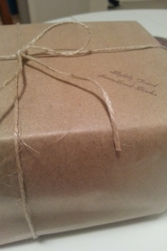 brown paper parcel all tied up with string - by the most elegantly tweedy proprietress